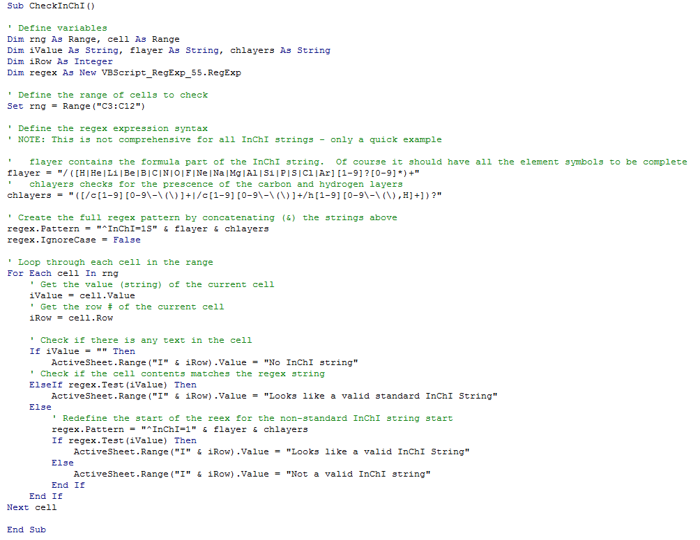 Excel vba script